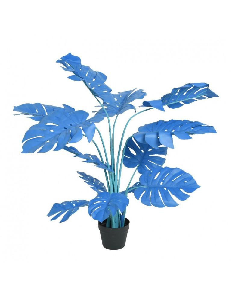 Monstera artificiel bleu en pot H.113cm JUNGLE DAA4248010Decoris
