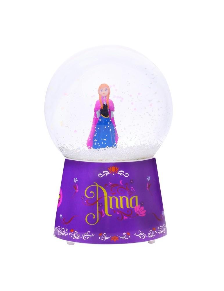 Boule à neige musicale avec figurine Ana violet 10x10x15cm LA REINE DES NEIGES BDE3306019Trousselier