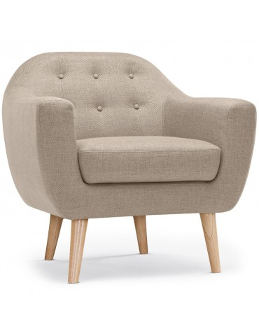 fauteuil scandinave savoy tissu beige qh8805beige. Black Bedroom Furniture Sets. Home Design Ideas