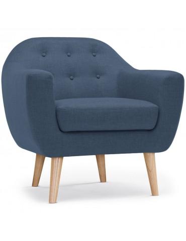 Fauteuil scandinave Savoy tissu Bleu qh8805blue