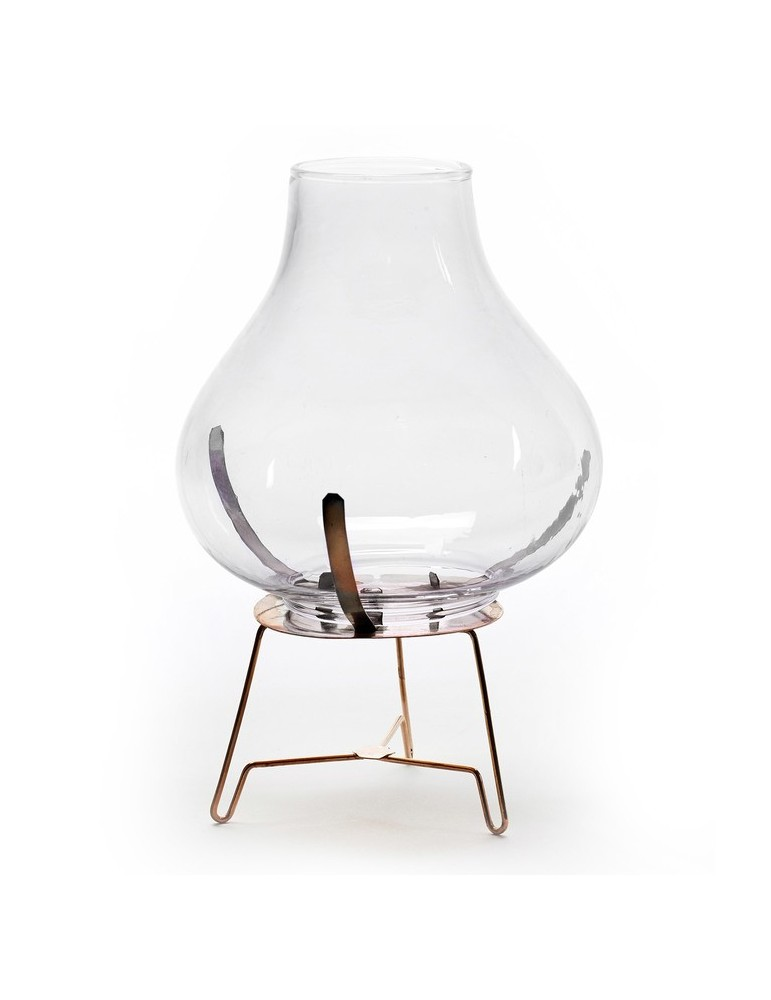 Photophore en verre sur trépied en métal cuivré TALYA DEC1239228Serax