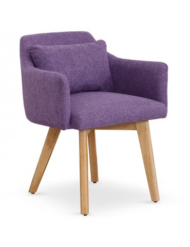 Chaise / Fauteuil scandinave Gybson Tissu Violet lf5030purplefabric