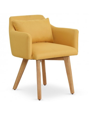 Chaise / Fauteuil scandinave Gybson Tissu Jaune lf5030yellowfabric