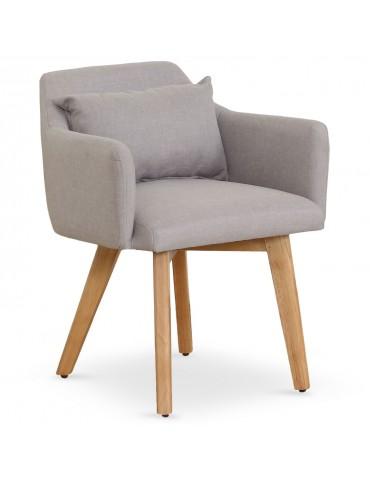 Chaise / Fauteuil scandinave Gybson Tissu Beige lf5030beigefabric
