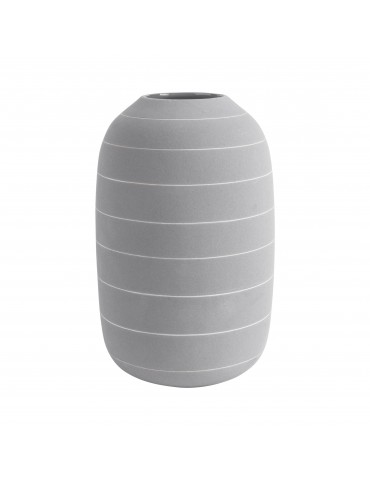 Vase en céramique gris rayure blanche H.25cm TERRA DVA4302028Present Time