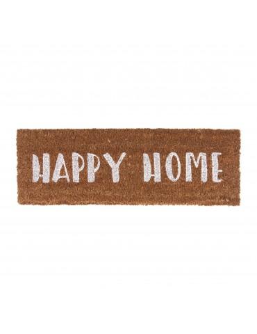 Paillasson en fibre de coco Happy Home blanc 75x26cm HOME DPA4302017Present Time