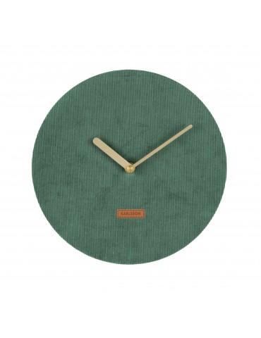 Horloge murale en velours cotelé vert D.25cm LUSH DHO4302001Present Time
