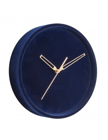 Horloge murale en velours D.30cm bleu LUSH DHO4302003Present Time