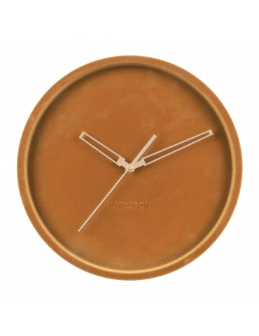 Horloge murale en velours D.30cm caramel LUSH DHO4302004Present Time
