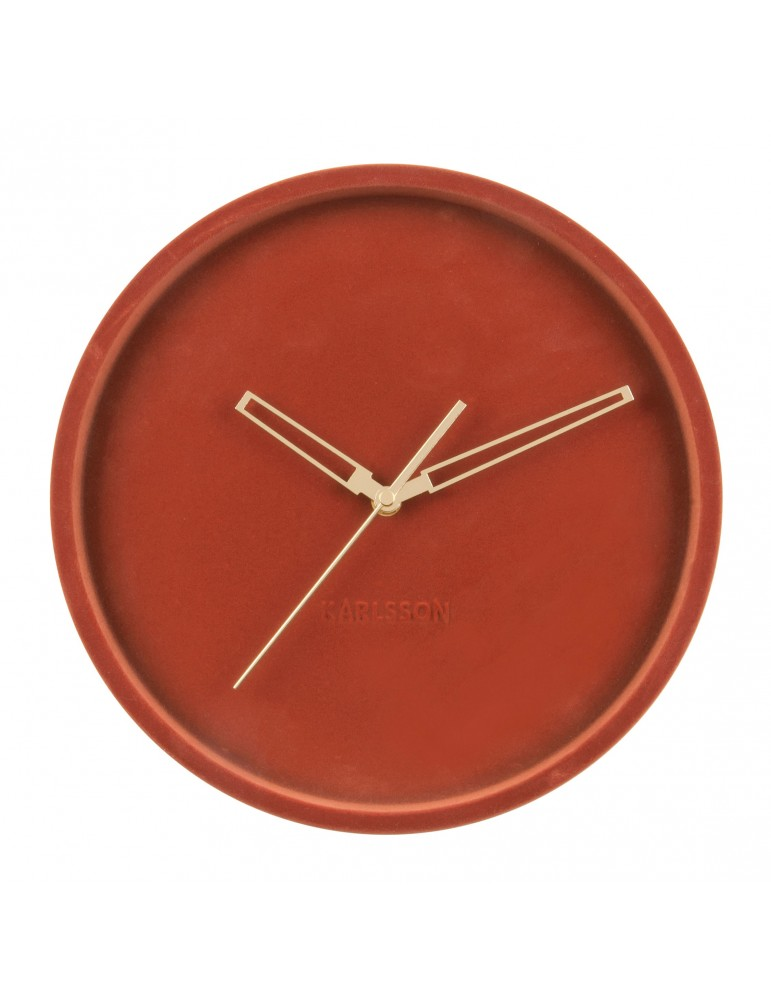 Horloge murale en velours D.30cm bordeaux LUSH DHO4302005Present Time