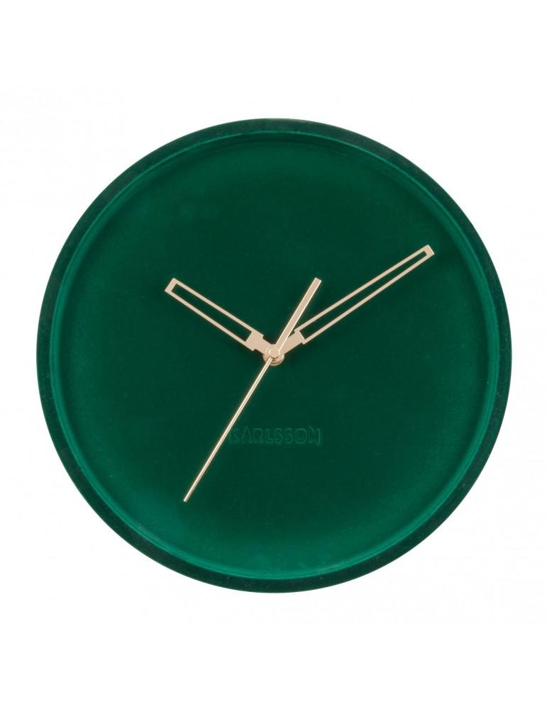 Horloge murale en velours D.30cm vert sapin LUSH DHO4302006Present Time