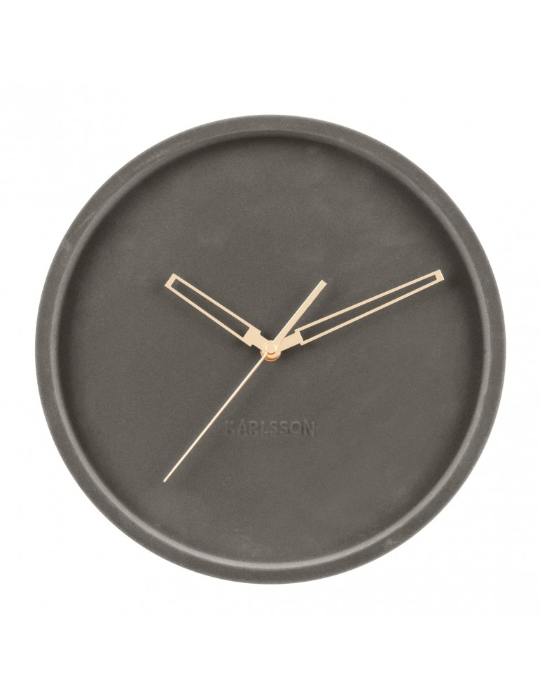 Horloge murale en velours D.30cm gris LUSH DHO4302007Present Time