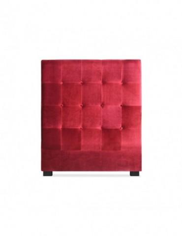 Tête de lit Luxor 90cm Velours Rouge lf155h90vrouge