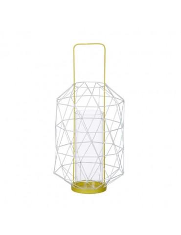 Lanterne ajourée en métal et verre jaune ESPACE DEC3212204