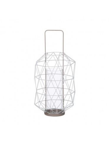 Lanterne ajourée en métal et verre taupe ESPACE DEC3212205