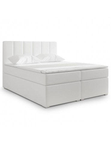 Lit Coffre Balero 180cm Simili Blanc bb180soft17blanc