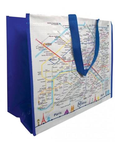 Grand Sac Shopping Plan RATP Blanc 36 X 44 8199010000Ça et Là