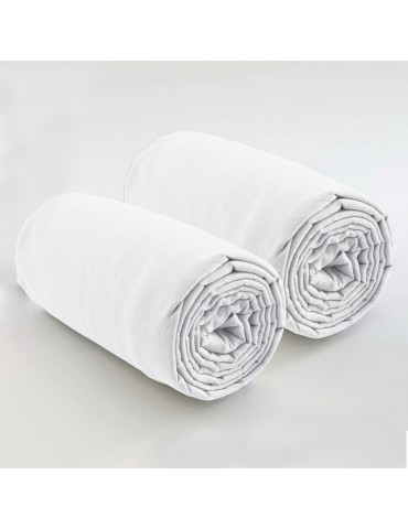 Double drap housse spécial matelas double uni Coton Blanc 80 x 200 x 35 4572010501Les Ateliers du Linge