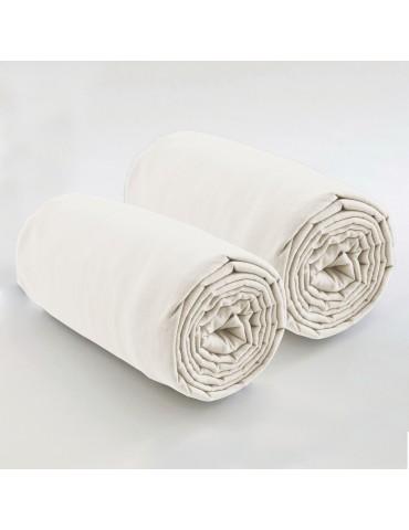 Double drap housse spécial matelas double uni Coton Ivoire 80 x 200 x 35 4572080501Les Ateliers du Linge
