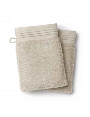 2 gants de toilette Cosy Naturel 15 x 21 3779180602Les Ateliers du Linge