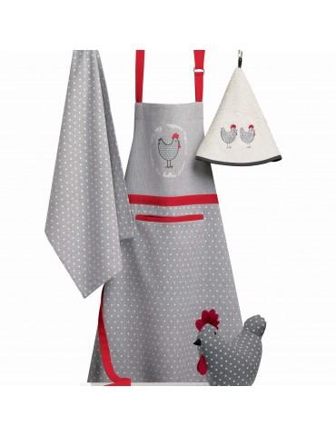Tablier de cuisine Georgette Anthracite 80 x 85 2297090000Les Ateliers du Linge