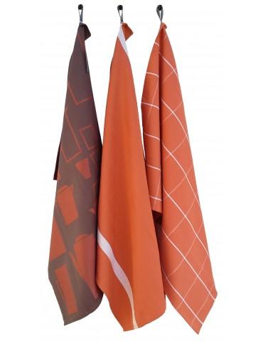 3 torchons Jacq Aroma Orange 50 x 70 8201017103Winkler