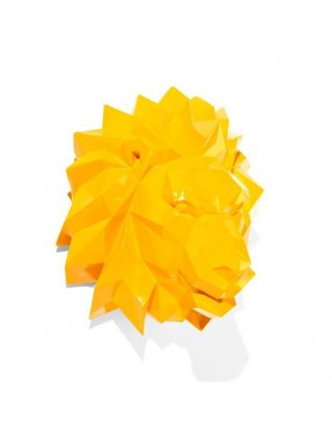 Trophée tête de lion jaune orangé façon origami DMR4122008Delamaison