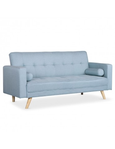 Canapé convertible scandinave Slow Tissu Bleu clair jh846lightblue40