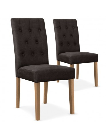 Lot de 2 chaises Cecil Tissu Taupe wh11282taupe