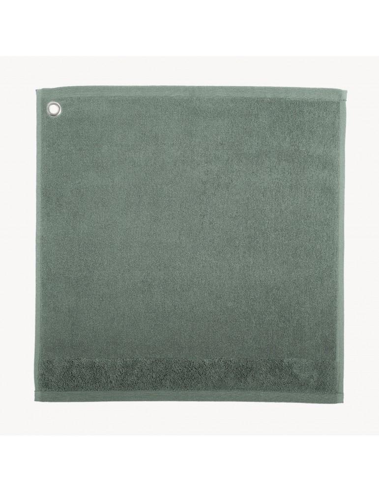 Essuie-mains Oeillet Curl Vert de gris 50 x 50 4025023000Winkler