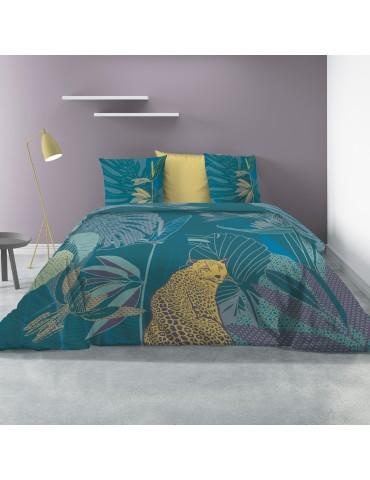 Parure de lit 2 personnes avec housse de couette et 2 taies d'oreiller Wayapi Imprimé 240 x 220 5444000503Les Ateliers du Linge