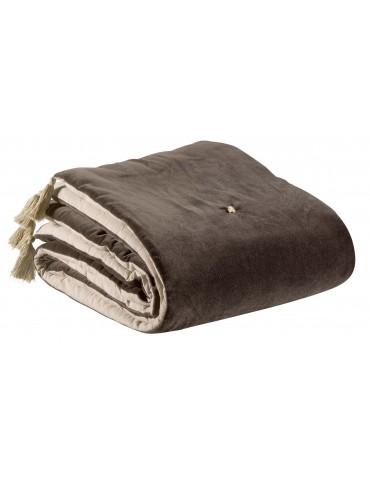 Edredon uni Elise Cacao 160 x 160 1308824000Vivaraise