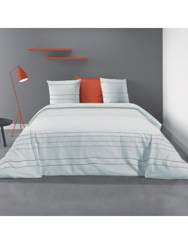 Parure de lit 2 personnes avec housse de couette et 2 taies d'oreiller July Imprimé 260 x 240 5380000503Les Ateliers du Linge