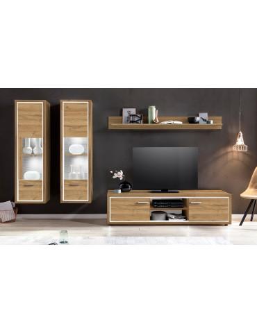 Ensemble meuble TV Burgo Chêne Clair light3va03