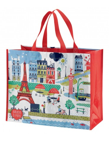 Grand Sac Shopping Balade à Paris Blanc 36 X 44 X 20 6020030000Winkler