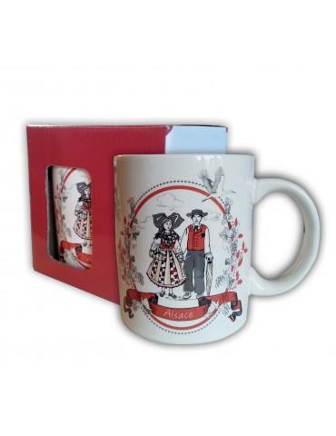 Mug Grès avec boîte Tipisch Blanc 8 X 8 X 10 3348010000Winkler