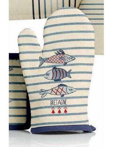 Gant de cuisine Pesk Bretagne Bleu 18 x 28 6485050000Winkler