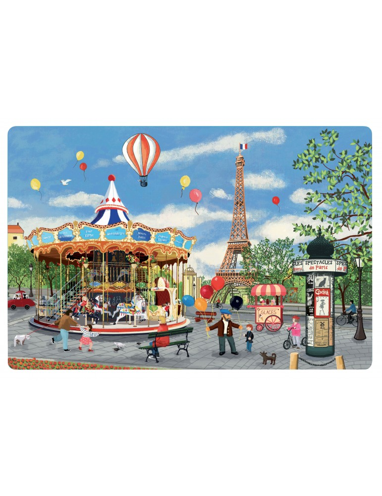 Set de table Carrousel Tour Eiffel Assortis 30 x 45 5797090000Winkler