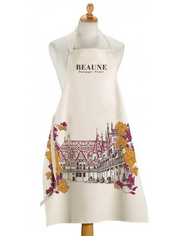 Grand Tablier de cuisine Ville De Beaune Ecru 72 x 96 5267091000Winkler
