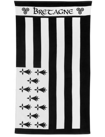 Drap de bain Gwenn Ha Du Noir/Blanc 100 x 180 4738078000Winkler
