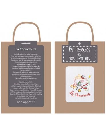 Torchon Recette Choucroute Blanc 40 x 60 4122090000Winkler