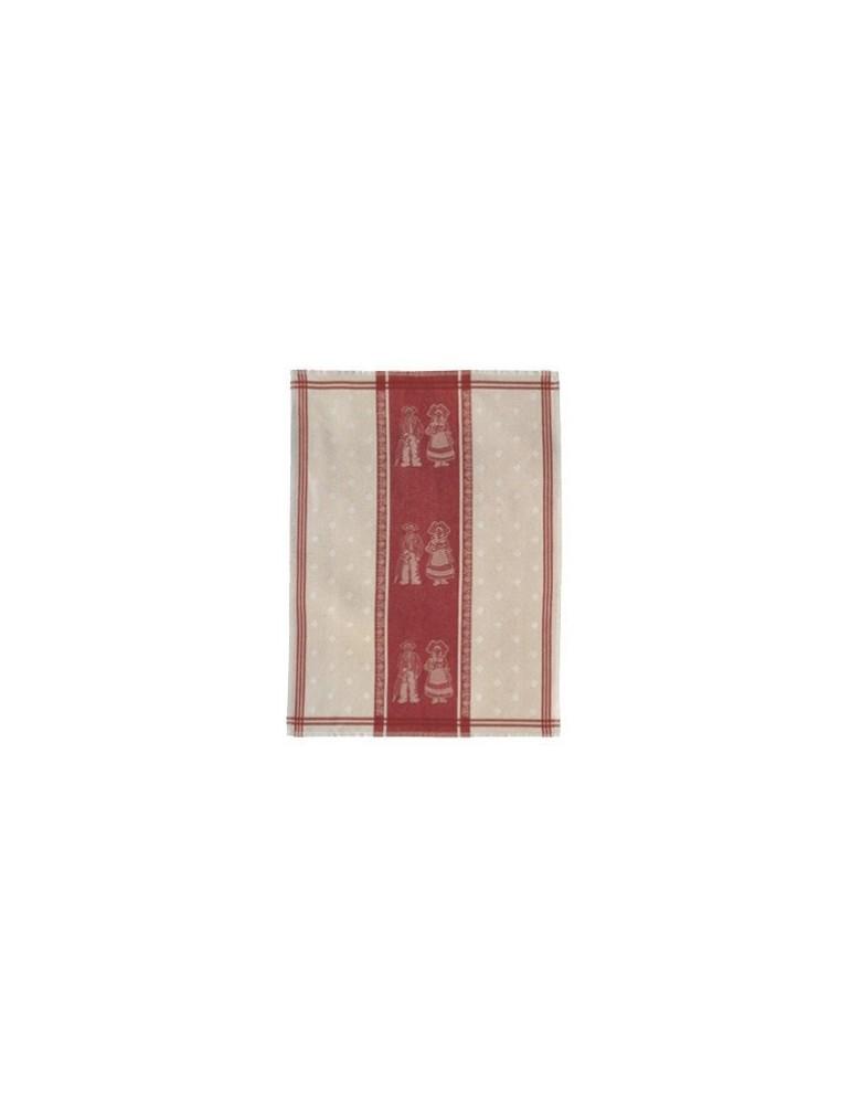 Torchon Jacquard Petit Coeur Ficelle 70 x 50 3107086000Winkler