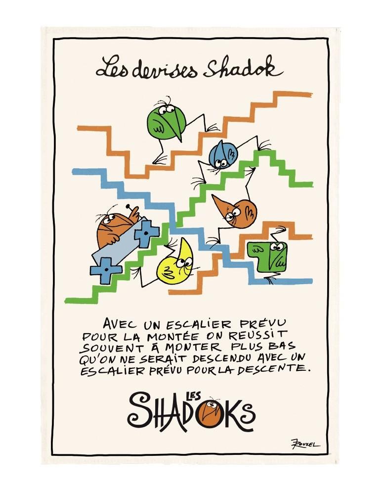 Torchon Shadoks Escaliers Ecru 48 x 72 5171010000Winkler