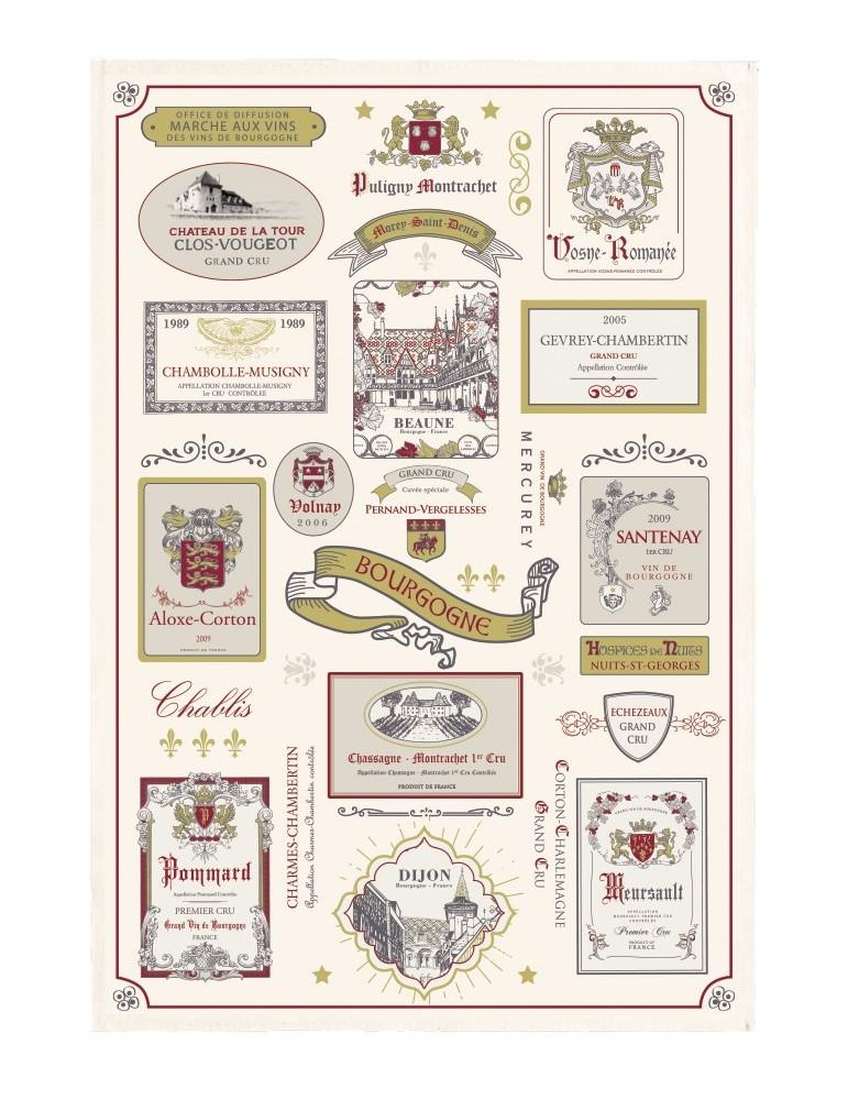 Torchon multi-étiquettes Bourgogne Ecru 48 x 72 5257010000Winkler