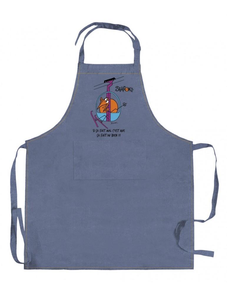Tablier de cuisine Shadoks Téléphérique Jeans 90 x 72 5186065000Winkler