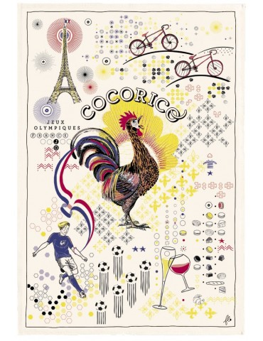 Torchon Cocorico France Ecru 48 x 72 5207010000Winkler