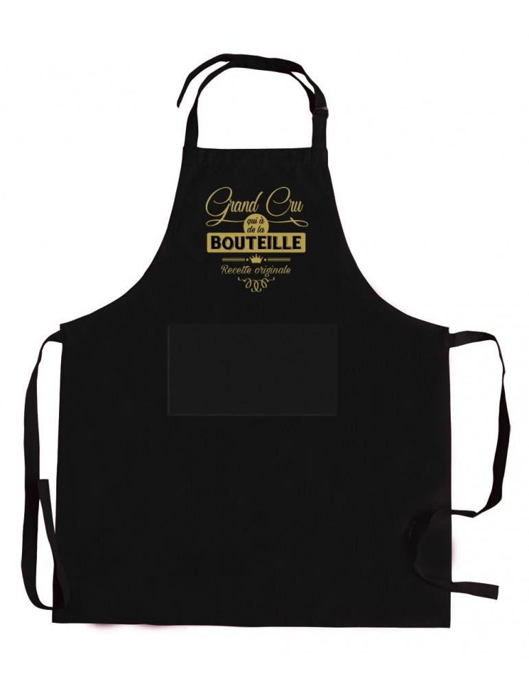 Tablier de cuisine Grand cru qui a de la bouteille Noir 72 x 90 5275070000Winkler