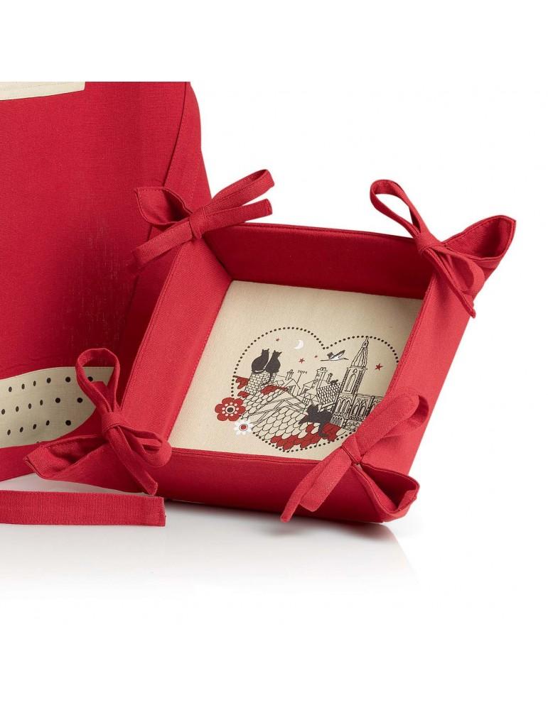 Corbeille à pain Chats Coeur Rouge 20 x 20 x 7 5160036000Winkler