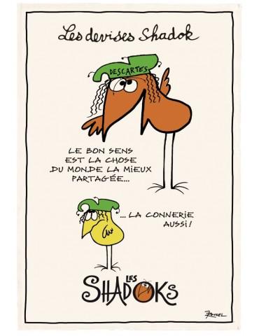 Torchon Shadoks Le bon sens Ecru 48 x 72 5170010000Winkler