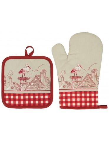 Lot Gant de cuisine/Manique Assa Ficelle 18 x 28 6754030102Winkler